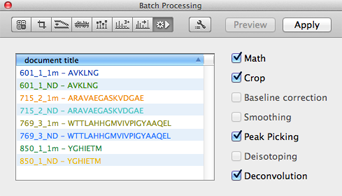 Batch Processing Panel