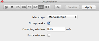 Deconvolution Panel